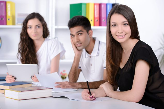 29331446 - group young students while studying in classroom